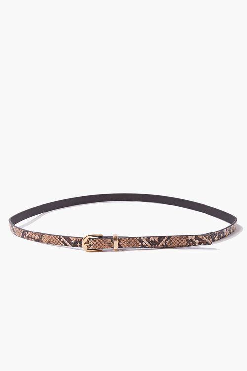 GOLD/MULTI Faux Snakeskin & Leather Belt Set, image 2