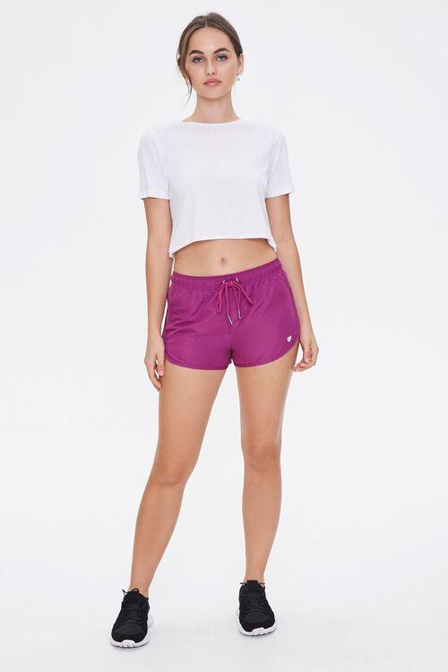 Active Sheer Mesh-Trim Shorts, image 4