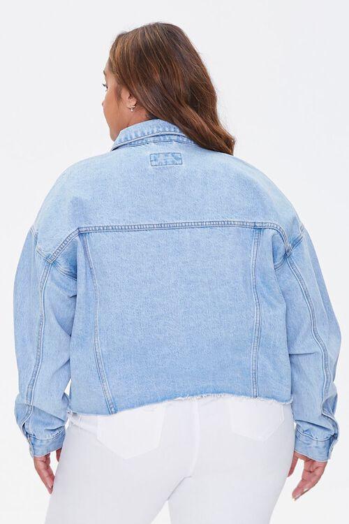 LIGHT DENIM Plus Size Cropped Denim Jacket, image 3