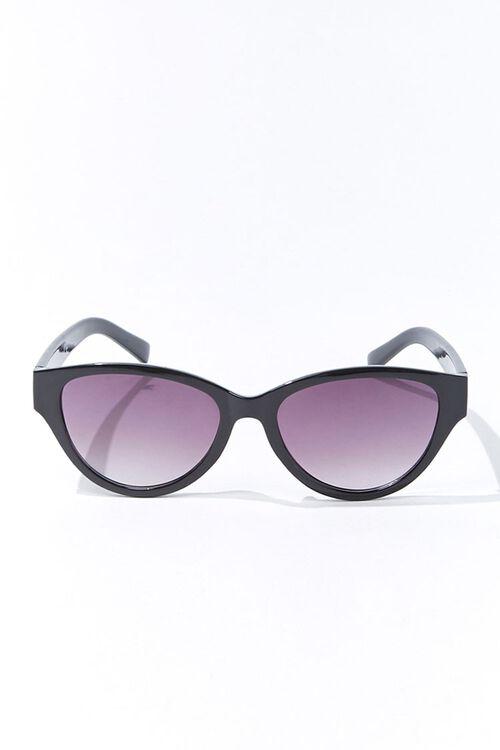 Tortoiseshell Oval Gradient Sunglasses, image 1