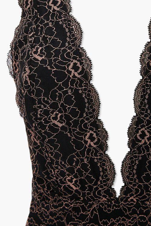 Floral Lace Thong Bodysuit, image 4