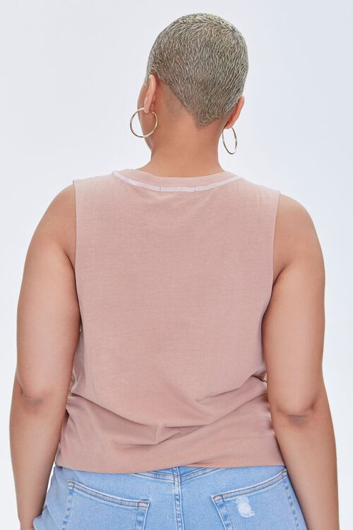 Plus Size Sun Graphic Muscle Tee, image 3
