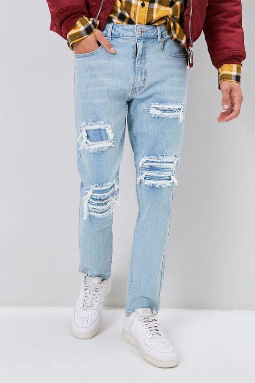 Moto-Panel  Distressed Skinny Jeans, image 2