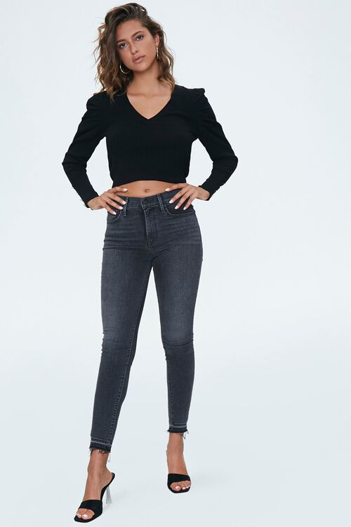 Ribbed Knit Cropped Sweater, image 4