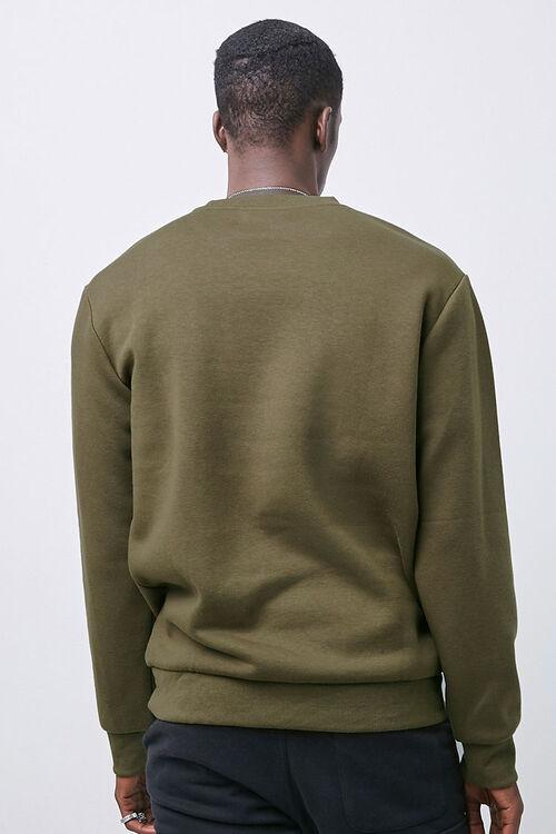 Crew Neck Fleece Sweatshirt, image 3