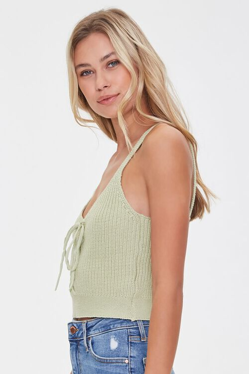 Sweater-Knit Lace-Up Cami, image 2