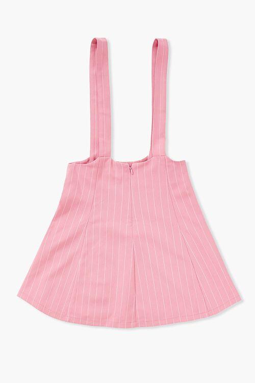 Girls Pinstriped Overall Dress (Kids), image 2