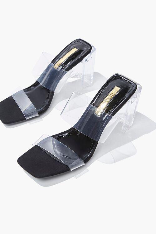 Dual-Strap Lucite Heels, image 3