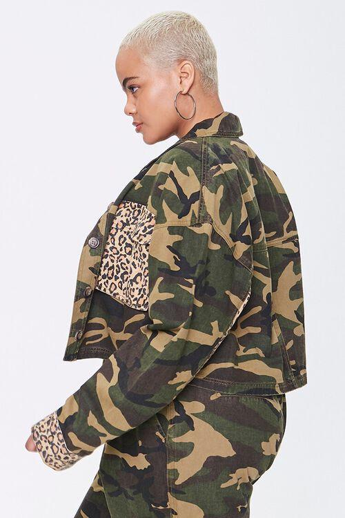 Plus Size Camo Leopard Jacket, image 2