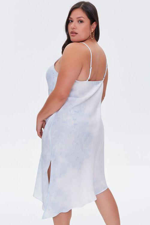 Plus Size Satin Tie-Dye Dress, image 3
