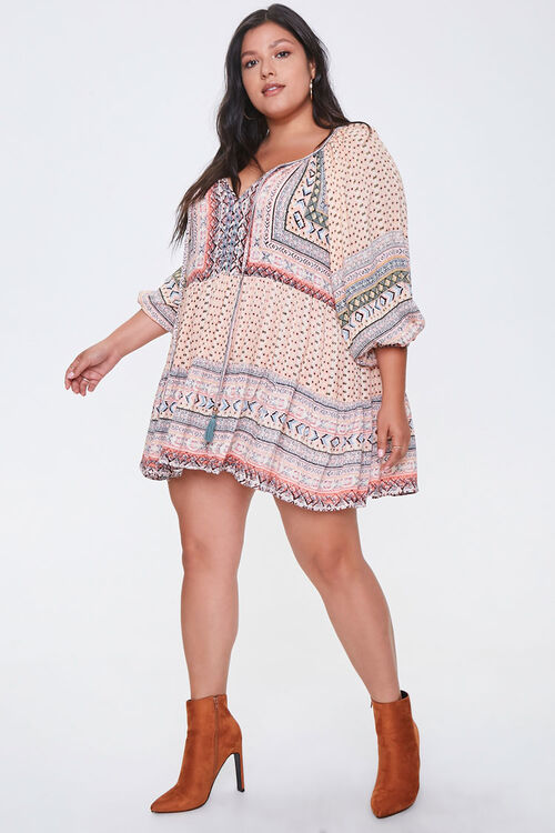 Plus Size Ornate Peasant Tunic, image 4