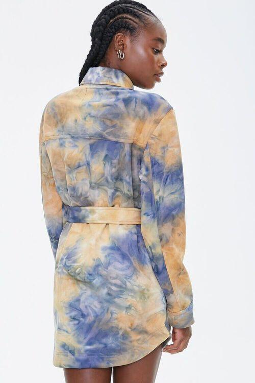 MUSTARD/BLUE Tie-Dye Shirt Jacket, image 3