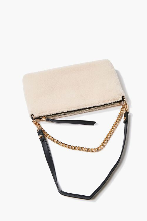 Faux Shearling Chain Shoulder Bag, image 3