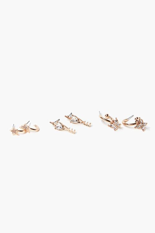 GOLD Love Charm Assorted Earring Set, image 1