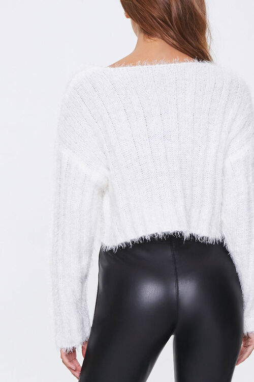 Fuzzy Knit Ribbed Sweater, image 3