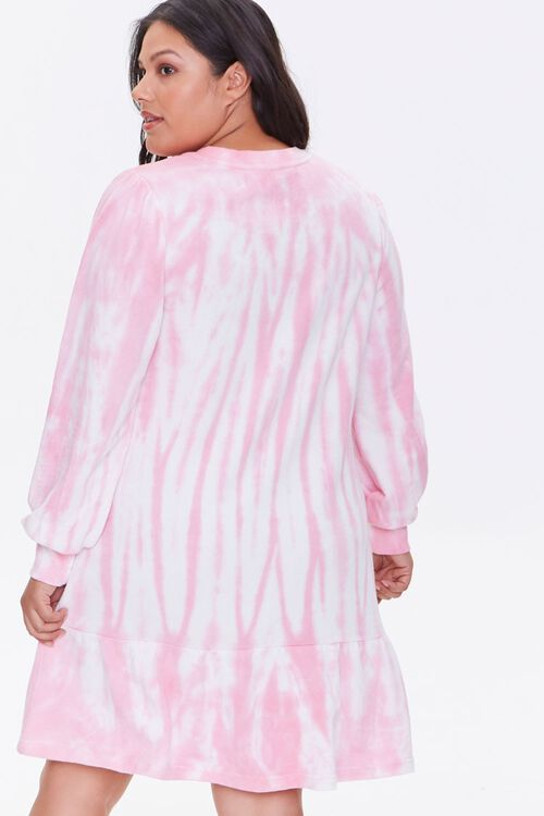 Plus Size Tie-Dye Sweatshirt Dress, image 3