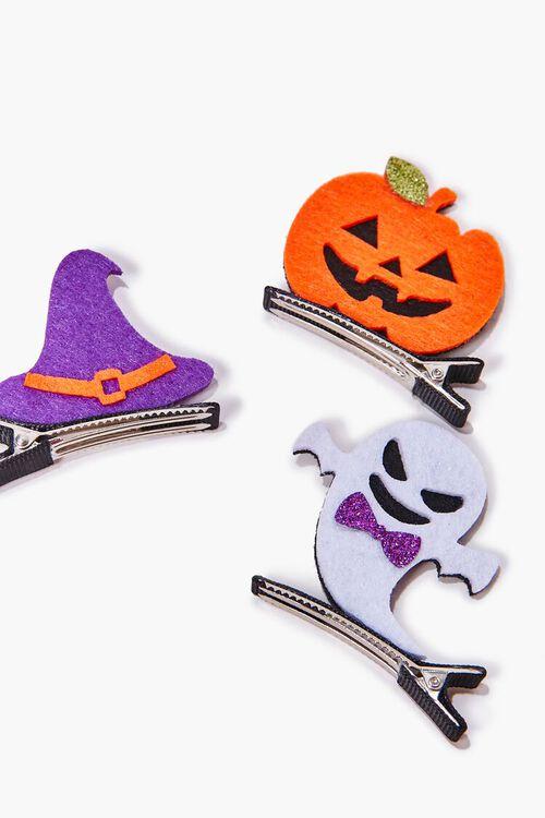 ORANGE/MULTI Halloween Gator Clip Set, image 2