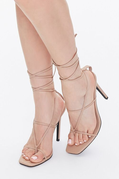 Strappy Toe-Thong Stiletto Heels, image 5