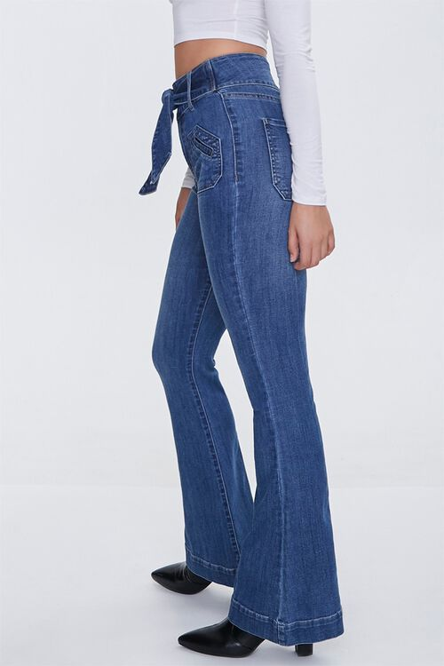 Sash Bow-Belt Flare Jeans, image 3
