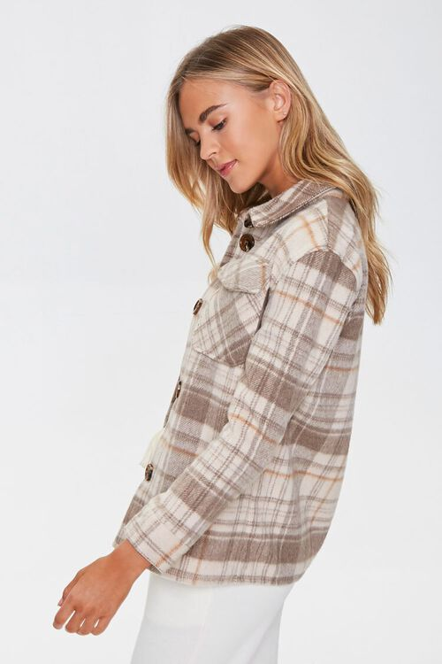 Plaid Button-Up Shacket, image 2