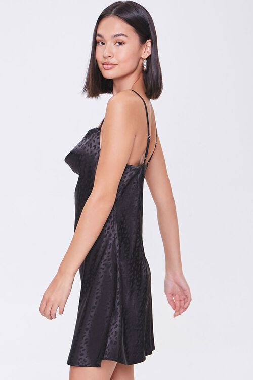 Satin Leopard Print Slip Dress, image 2