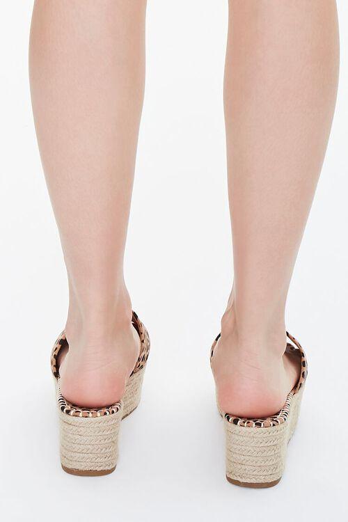 BLACK/BROWN Cheetah Print Espadrille Platform Sandals, image 3