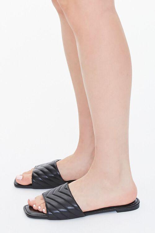 Metallic Quilted Sandals, image 2