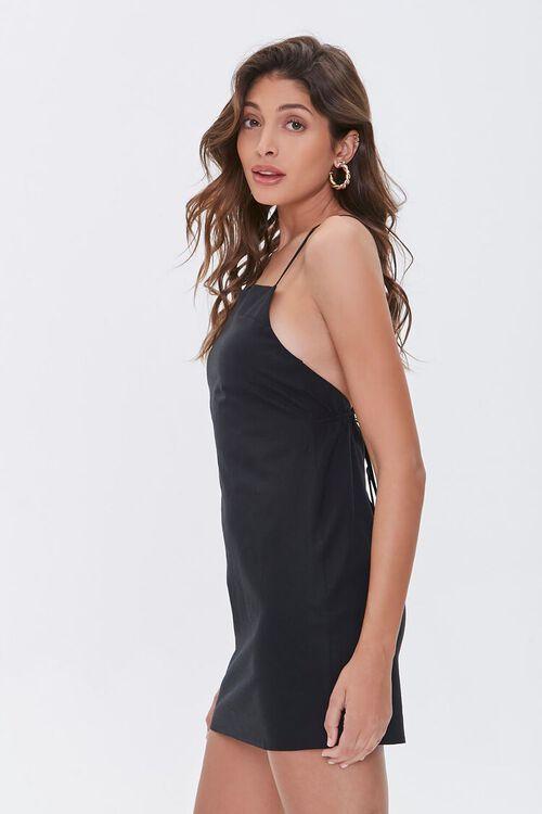 Crisscross Linen-Blend Mini Dress, image 2