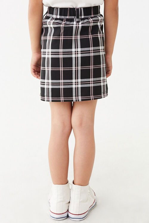 Girls Multicolor Plaid Skirt (Kids), image 4