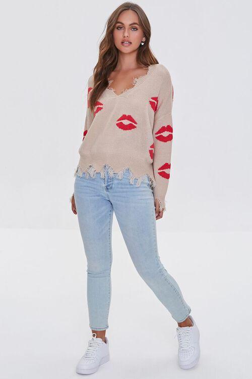 Lipstick Kiss Print Sweater, image 4