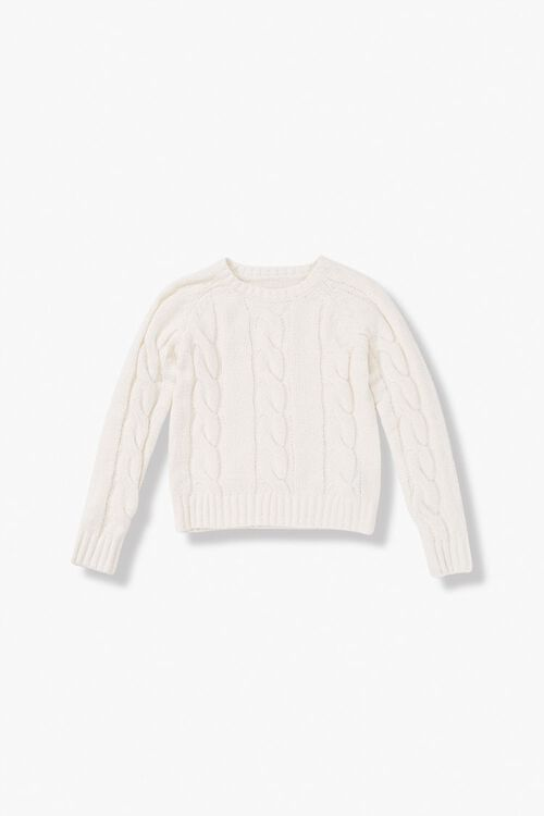 Girls Cable-Knit Sweater (Kids), image 1