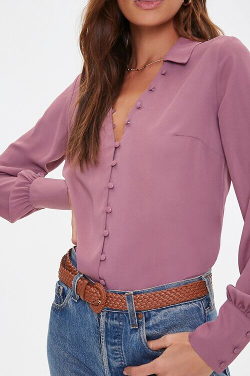 Button-Front High-Low Shirt, image 5
