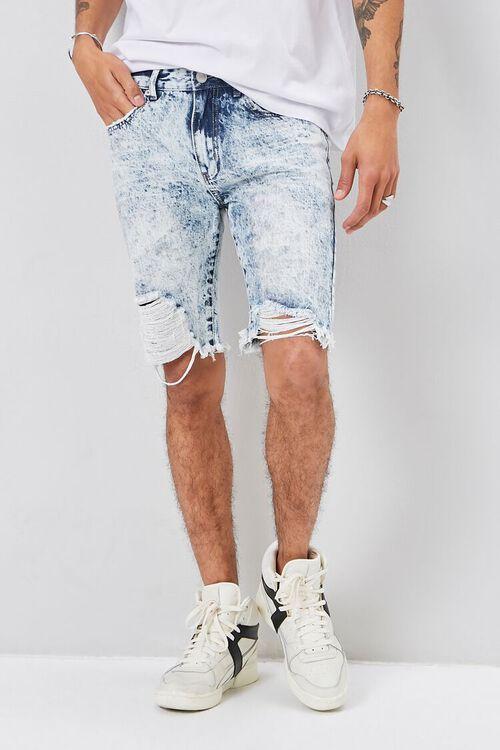 Distressed Denim Shorts, image 1