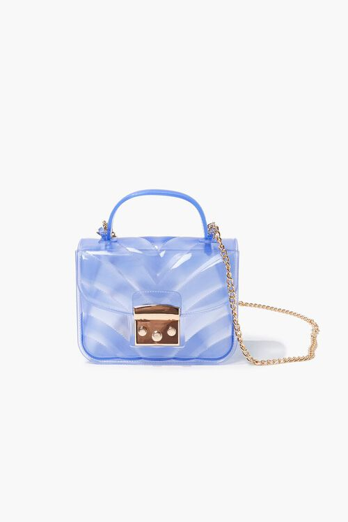 BLUE Quilted PVC Crossbody Bag, image 1