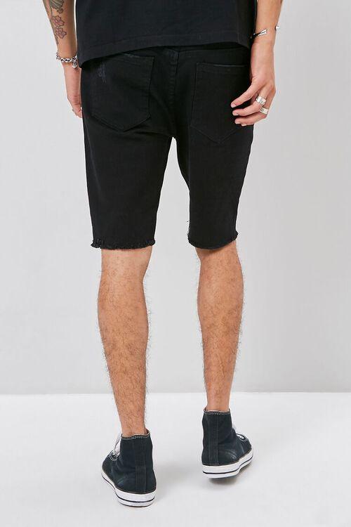 Clean Wash Distressed Denim Shorts, image 4