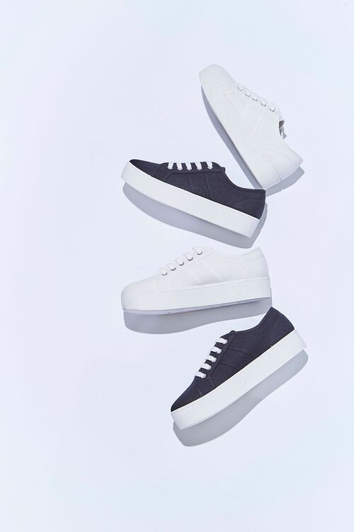 WHITE Lace-Up Low-Top Sneakers, image 1