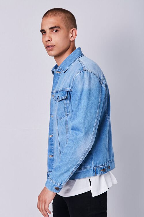 Recycled Buttoned Denim Jacket, image 2