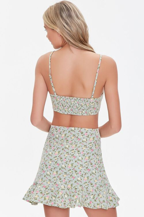 Floral Print Crop Top & Skirt Set, image 3