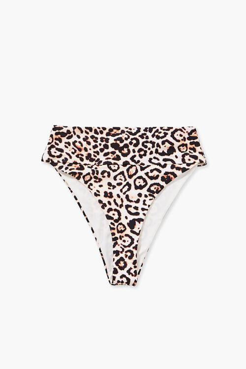 TAN/BLACK Leopard Print Bikini Bottoms, image 6