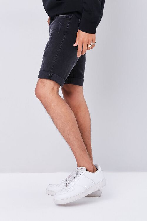 Distressed Acid Wash Shorts, image 3