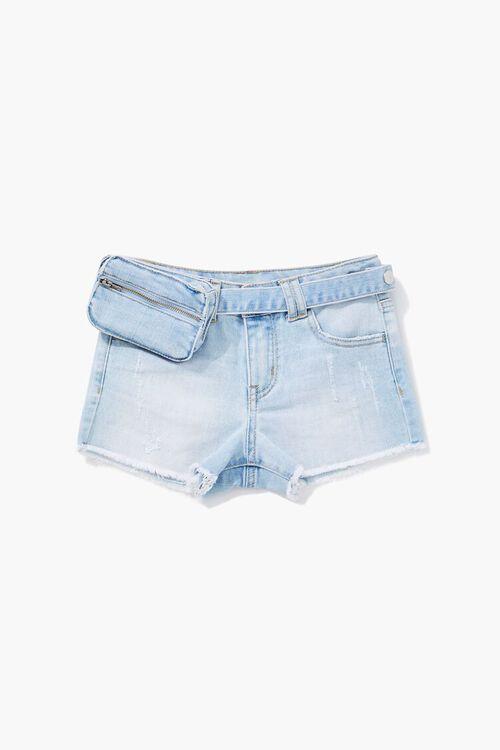 Girls Belt Bag Denim Short (Kids), image 1