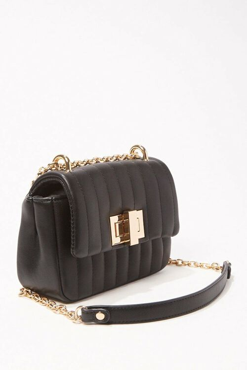 Quilted Faux Leather Crossbody, image 2