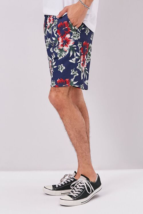 Tropical Print Drawstring Shorts, image 3