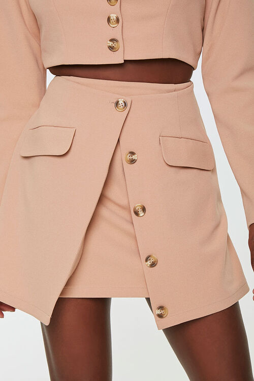 Button-Down Overlay Skirt, image 1