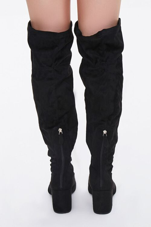 Faux Suede Over-the-Knee Boots (Wide), image 3