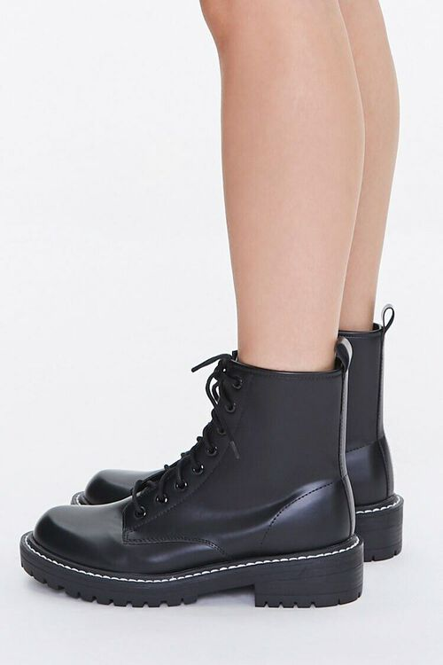 Faux Leather Ankle Boots (Wide), image 2