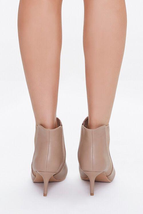 Faux Leather Stiletto Chelsea Boots, image 3