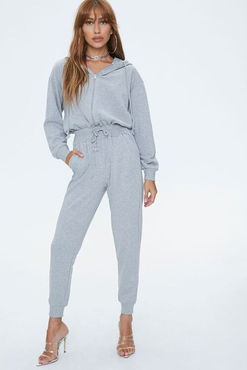 Hooded French Terry Jumpsuit, image 1