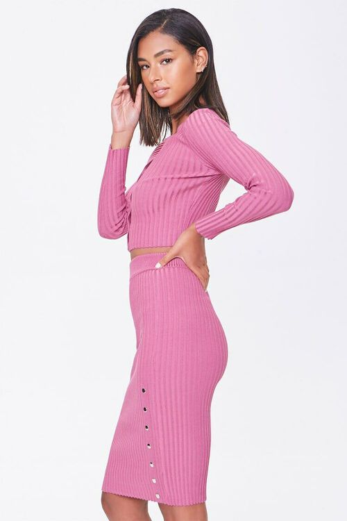 Ribbed Top & Pencil Skirt Set, image 2
