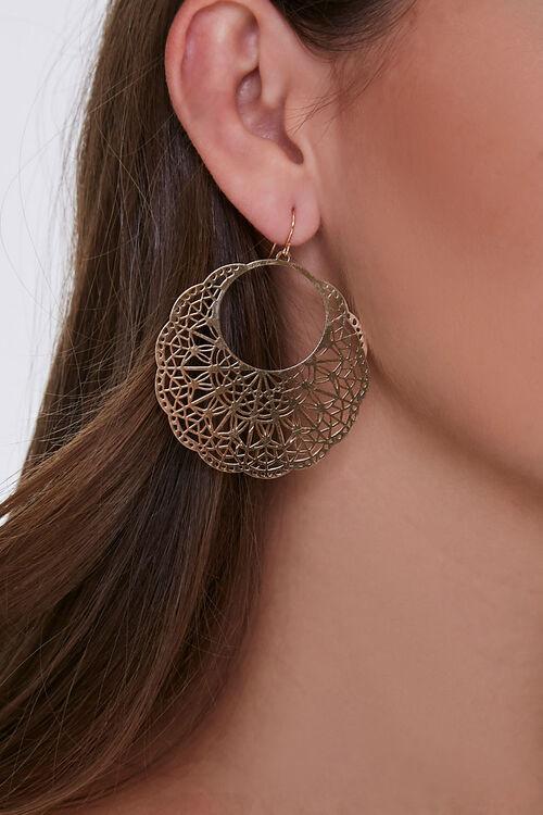 Ornate Disc Earrings, image 1